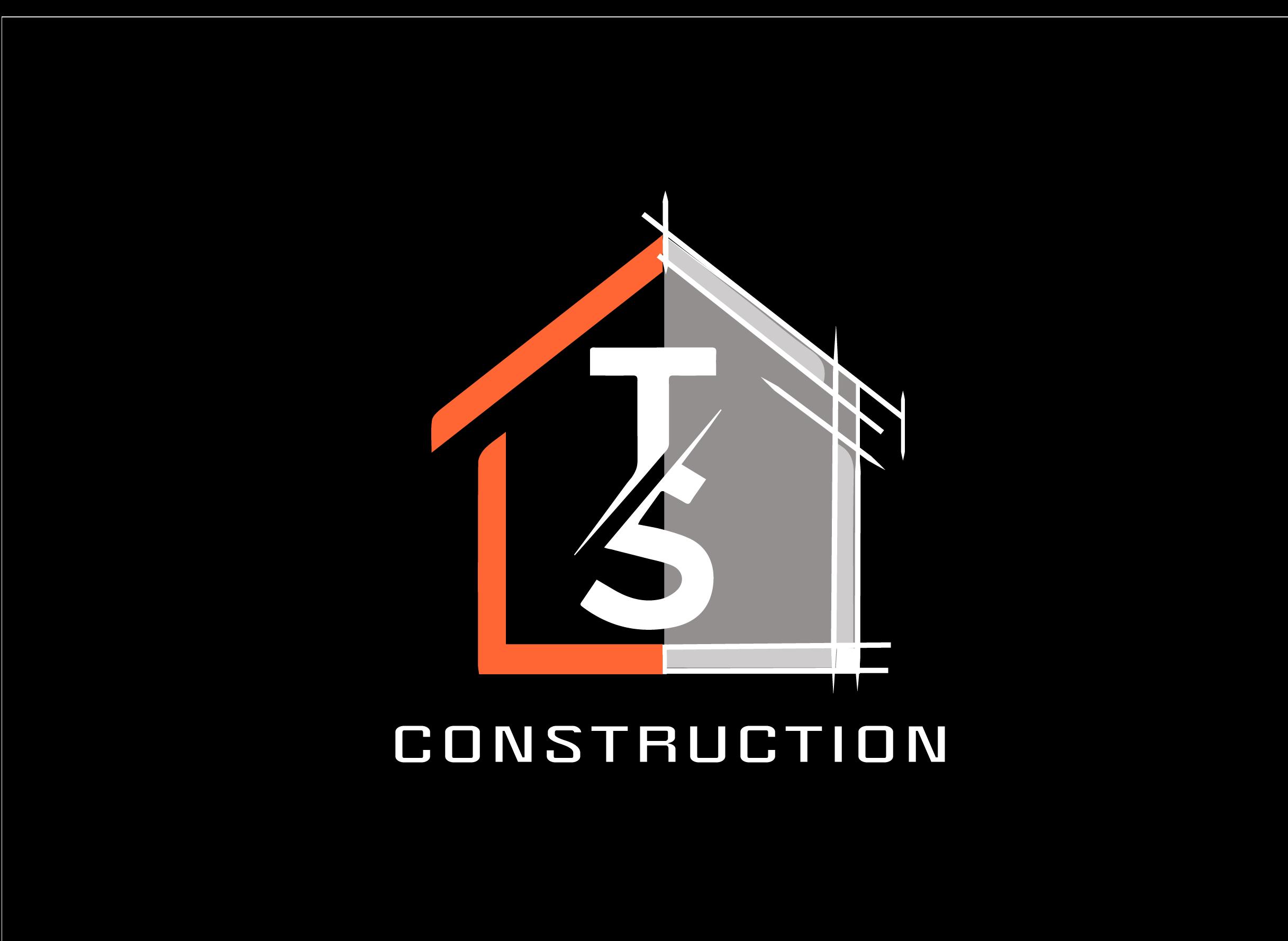 logo TS construction fond noir